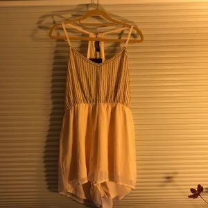 Misguided nude beaded romper